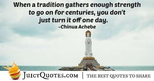 Cultures and Traditions Quote