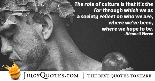 Role of Cultures Quote