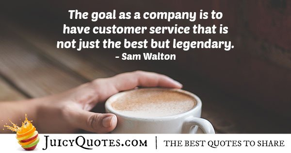 Customer Service Goals Quote
