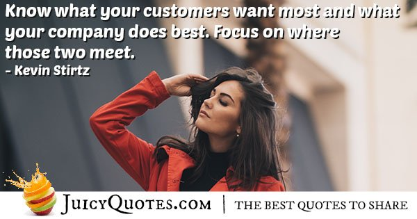What Customers Want Quote