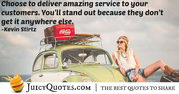 Deliver Amazing Service Quote