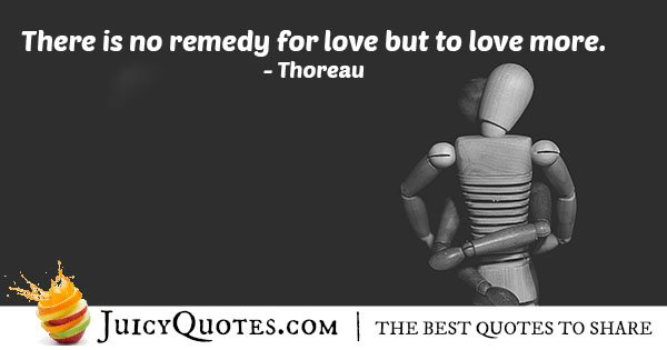 Remedy for Love Quote