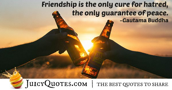 Friendship and Peace Quote