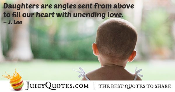 Daughters Are Angels Quote