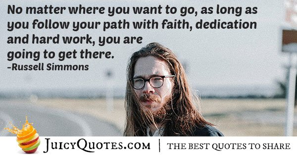 Your Path and Dedication Quote