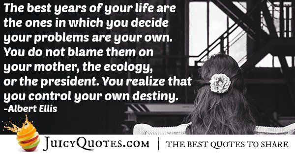 Control Your Own Destiny Quote