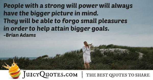 Strong Willpower Quote