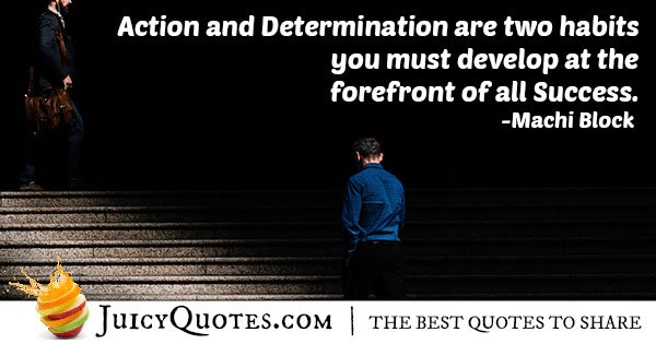 Action and Determination Quote