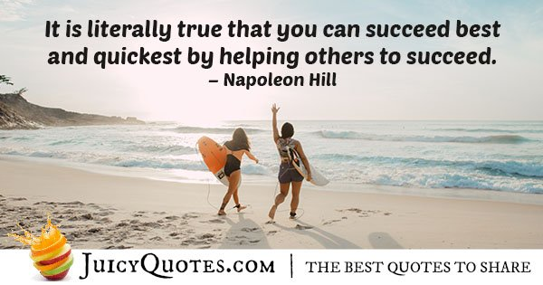 Succeed by Helping Others Quote