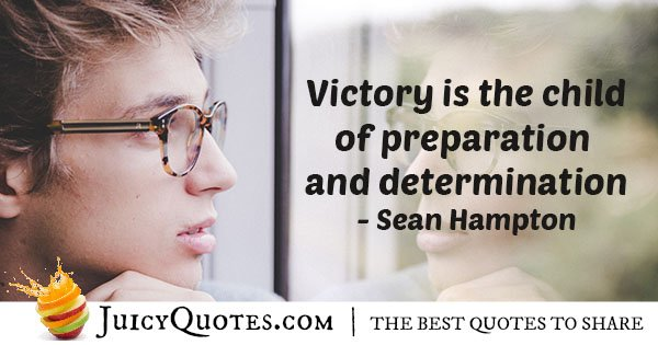 Victory and Determination Quote