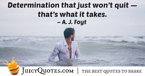 It Only Takes Determination Quote