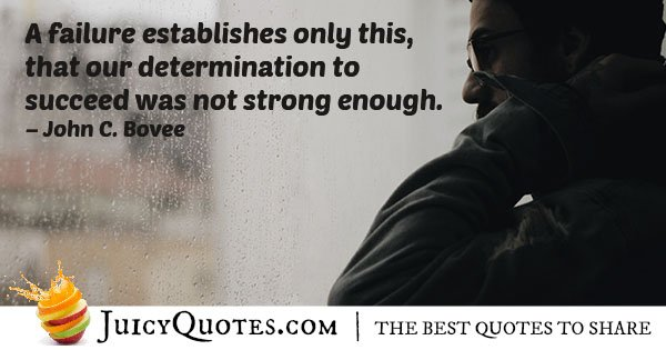 Failure and Determination Quote