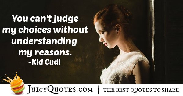 Judging Choices Quote