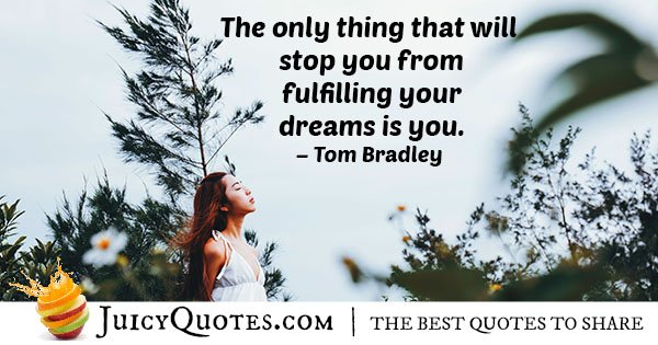 Fulfill Your Dream Quote