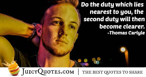 Doing a Duty Quote