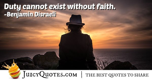 Duty and Faith Quote