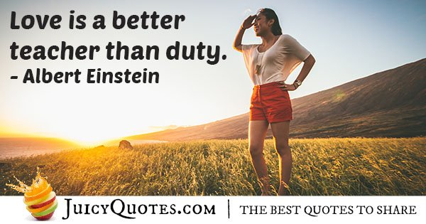 Love and Duty Quote