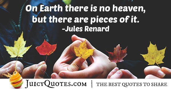 Heaven on Earth Quote