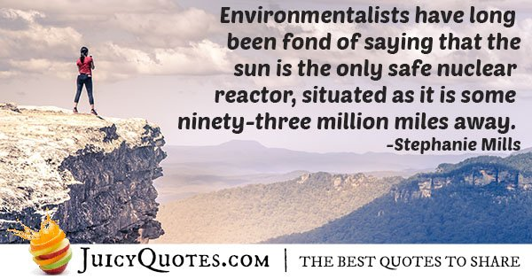 Quote About Nuclear Reactors