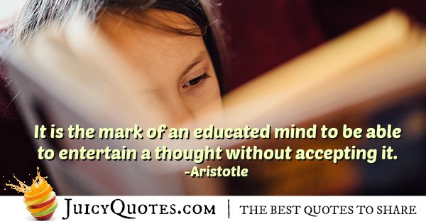 Educated Mind Quote