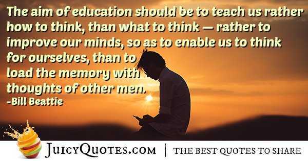 Aim of Education Quote