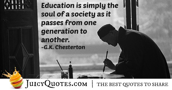 Education and Society Quote