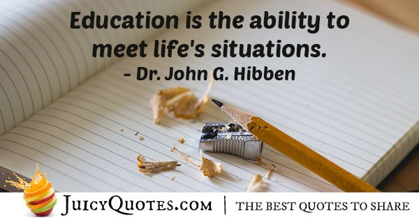 Education and Life Quote