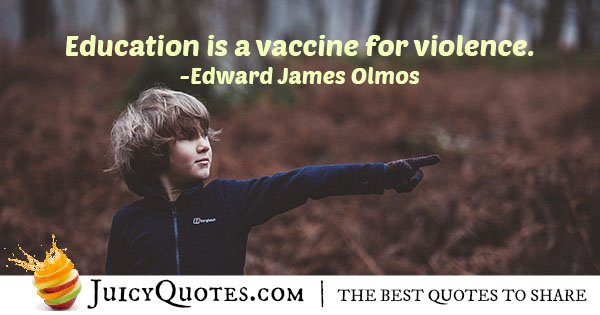 Education and Violence Quote
