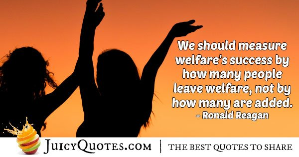 Welfare Success Quote