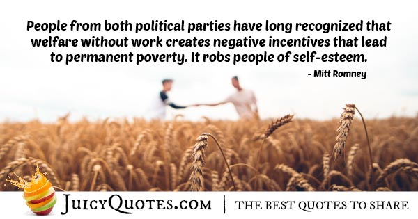 Welfare and Poverty Quote