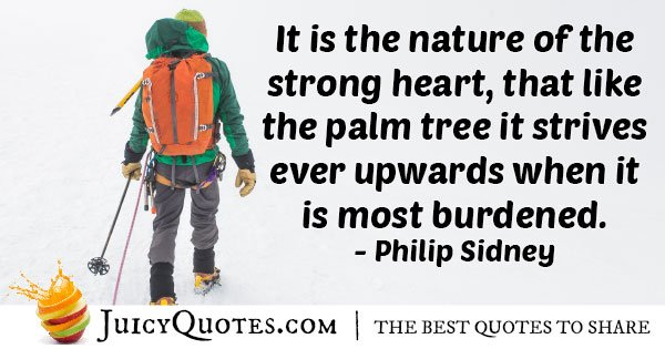 Strong Hearted Quote