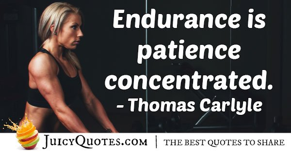 Endurance and Patience Quote