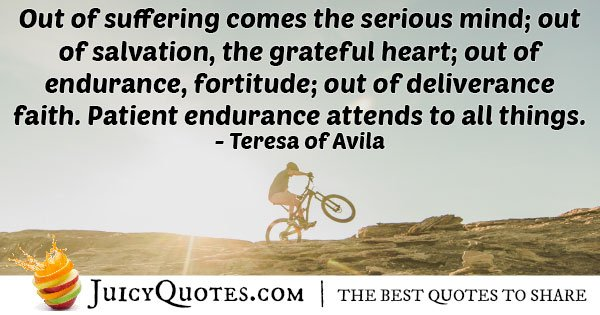 Quote About Endurance