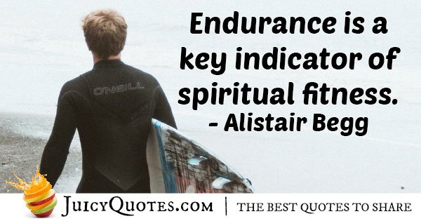 Spiritual Fitness and Endurance Quote