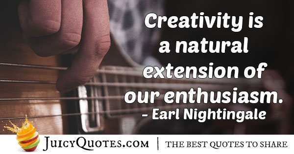 Enthusiasm and Creativity Quote