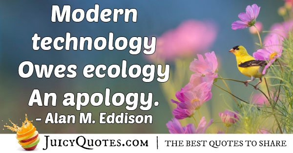 Technology and Ecology Quote