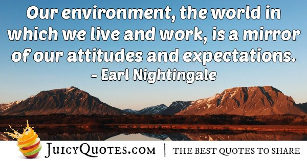 The Environment We Live In Quote