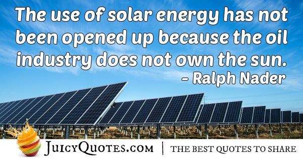 Using Solar Energy Quote