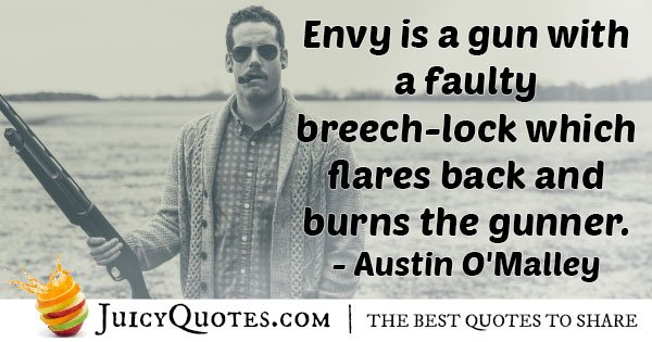 Envy Burns Yourself Quote