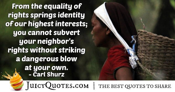 Equality of Rights Quote