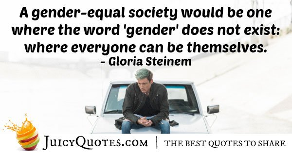 Gender Equal Society Quote