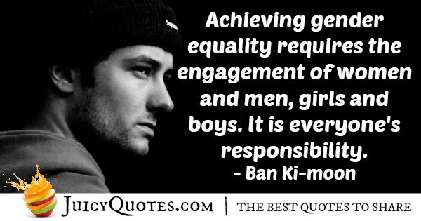 Achieve Gender Equality Quote