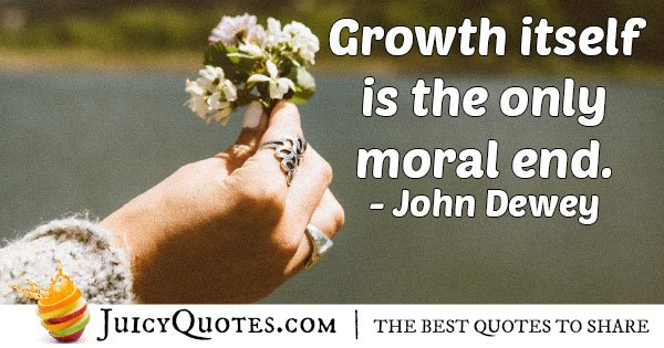 Growth and Morals Quote