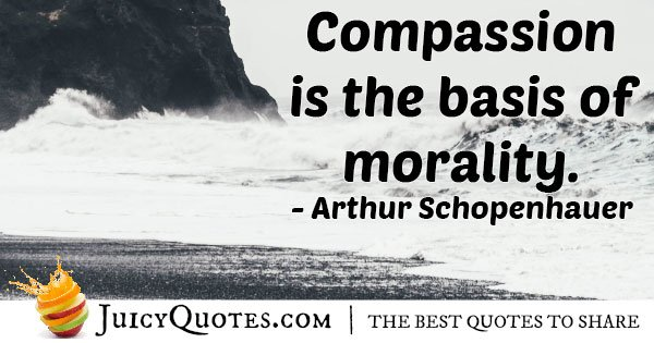 Compassion and Morality Quote
