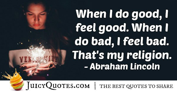 Do Good Feel Good Quote