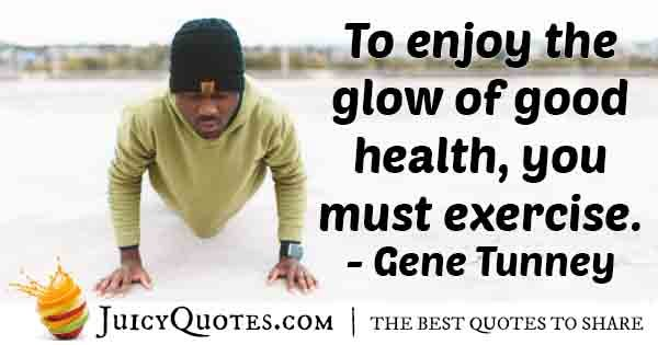 Exercise and Good Health Quote
