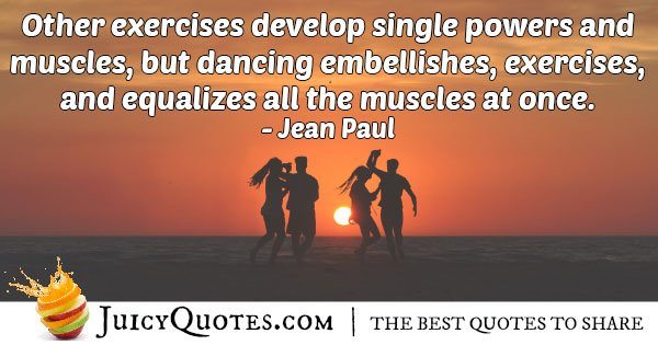 Exercise and Dance Quote