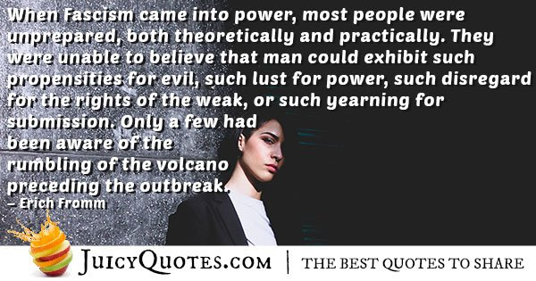 Fascism Lust For Power Quote