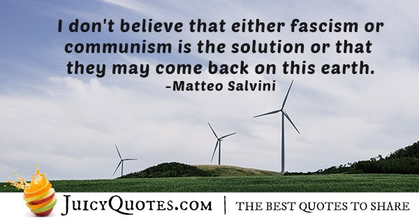 Fascism Not The Solution Quote