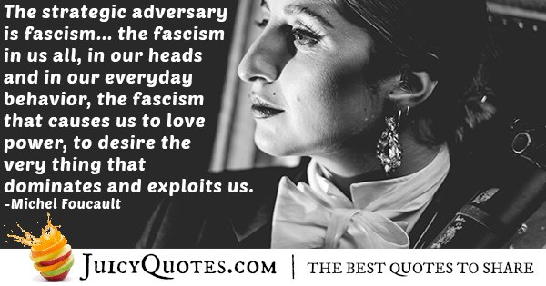 Fascism In Us All Quote